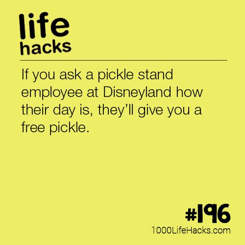 If you ask a pickle stand employee at Disneyland how their day is, they'll giv...