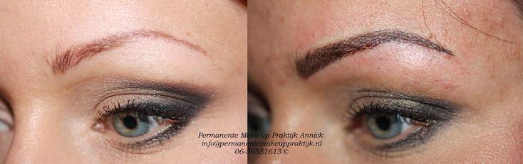 Correctie permanente make-up wenkbrauwen Wenkbrauwen Hairstroke techniek