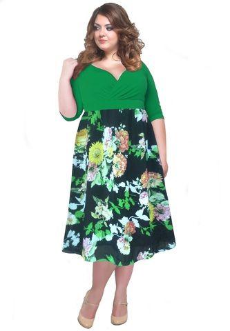 Элегантное платье большого размера купить в интернет-магазине