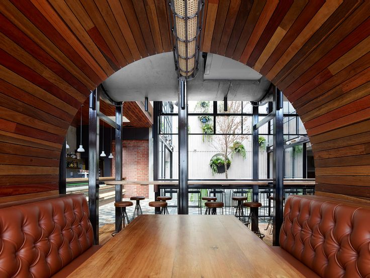 Using Concrete Pipes To Create Multi Level Booth Seating The Prahran Hotel By Techn Architects In Melbourne Australia Is A Pub That Offers Its Patrons
