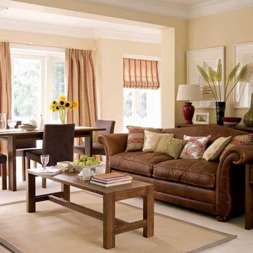The Color Of The Leather Couch In The Cream/tan Room