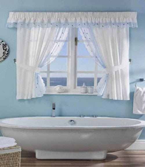 Curtain Ideas: Pictures Of Window Treatments For Small Bathroom W.