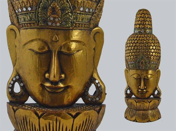 Gold Buddha face, ideal for meditation room! Viso budda color oro, ideale per rendere unico il tuo angolo meditazione! 100 cm