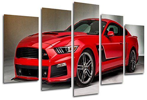 Cuadro Moderno Fotografico Coche Mustang Rojo, 165 x 62 cm ref. 26331 #cuadros #modernos