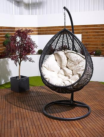Teardrop hammock chair!Gardens Ideas, Gardens Seats, House'S Patios Gardens S, Gardens Chairs, Hanging Chairs, Small Gardens, Gardens Design, Perfect Patios, Teardrop Hanging