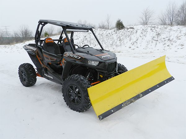 Fully Hydraulic Snow Plow Kit for the 2014 Polaris RZR XP 1000.