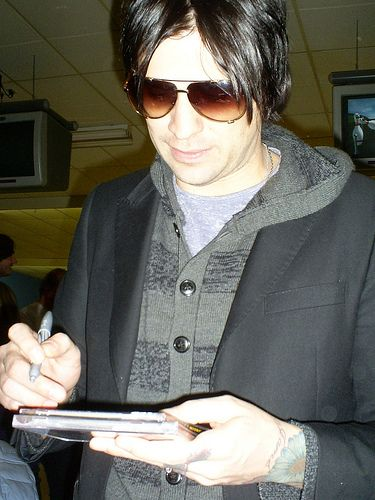 Hinder Lead Singer Austin Winkler at Strikers East Bowling Alley ...