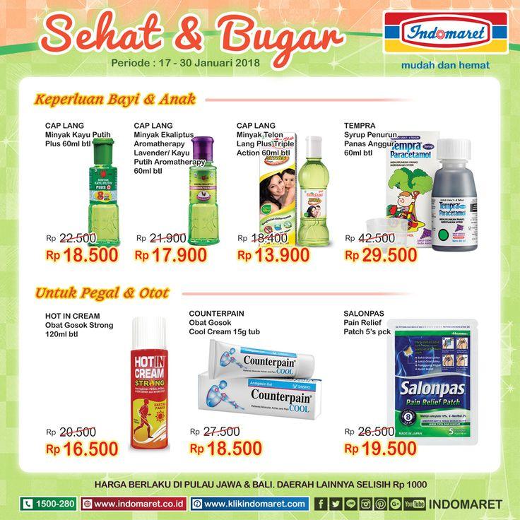 Promo #SuperHemat Sehat & Bugar  Periode : 17 - 23 Januari 2018 Info promo lebih lengkap : https://goo.gl/mJ6K4z