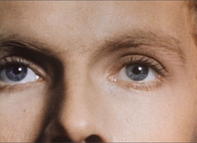 Mathieu Carrière's eyes in Malpertuis (1972) directed by Harry Kümel