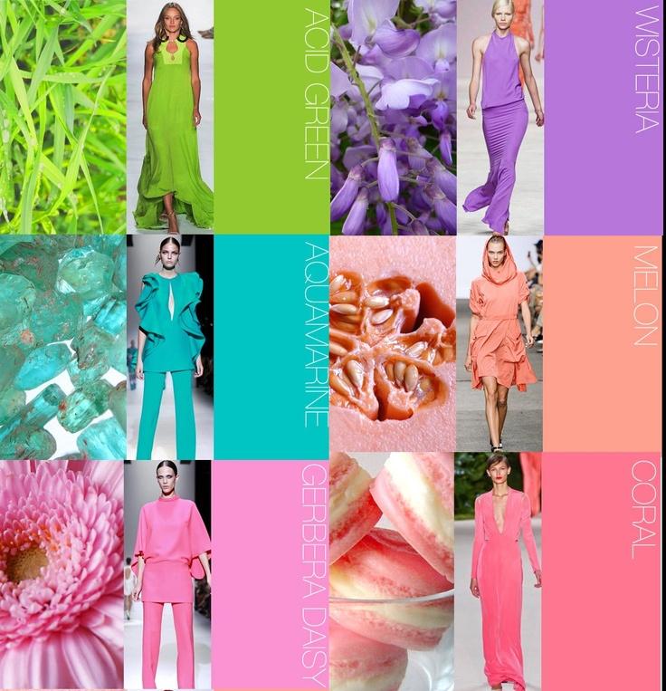 Color forecast Spring Summer 2014 - Previsione colori Primavera estate 2014.  I really like these