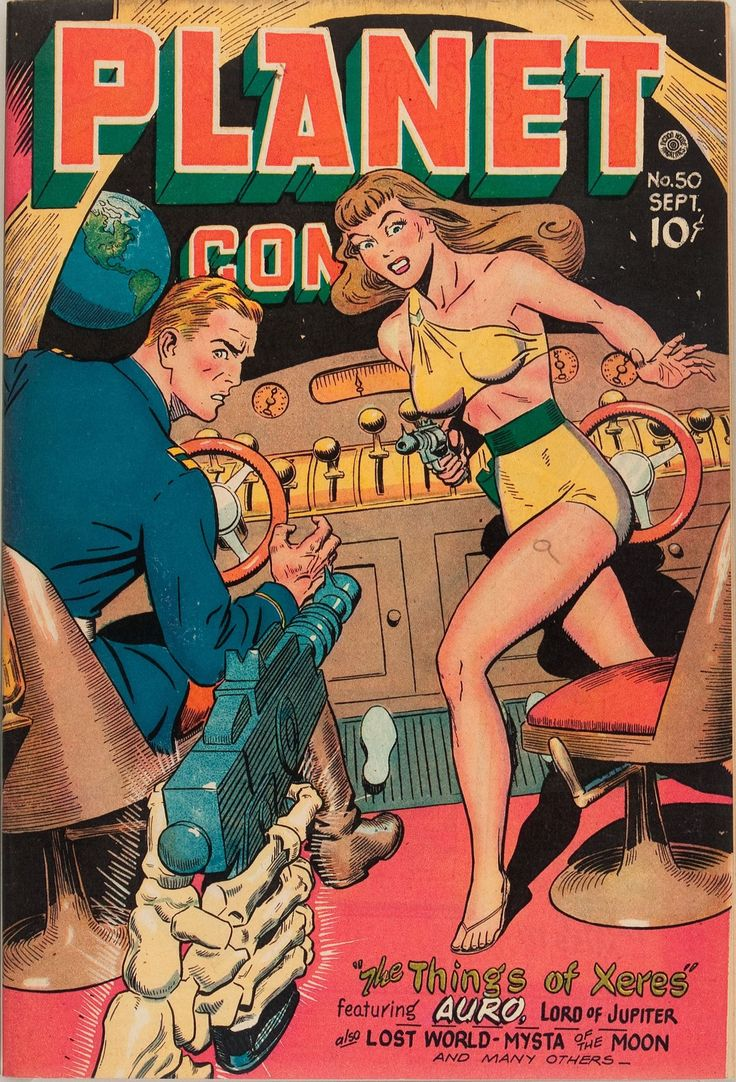 Planet Comics #pulp #cover #art #vintage #comic