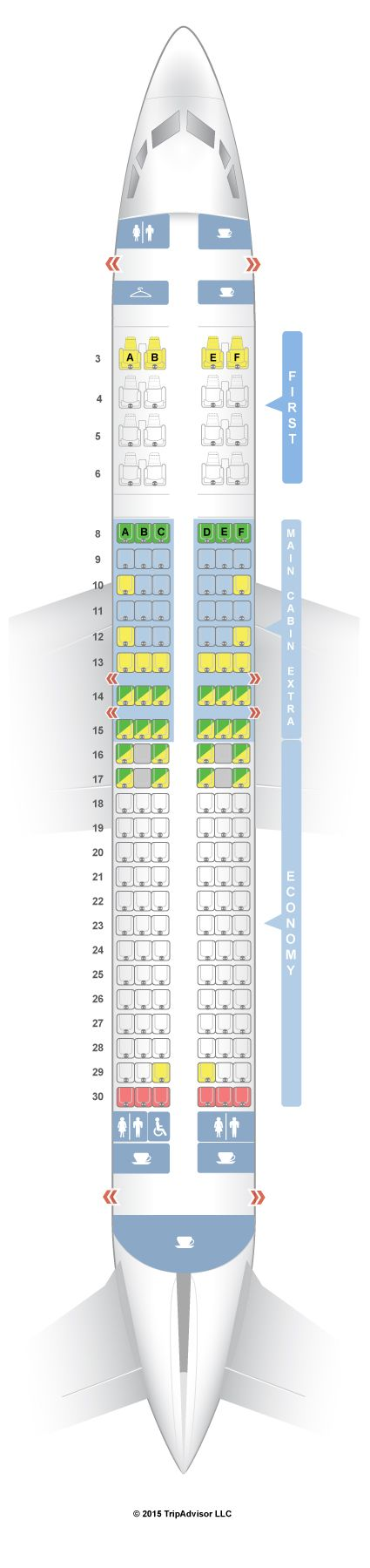 SeatGuru Seat Map American Airlines Boeing 737-800 (738) V2
