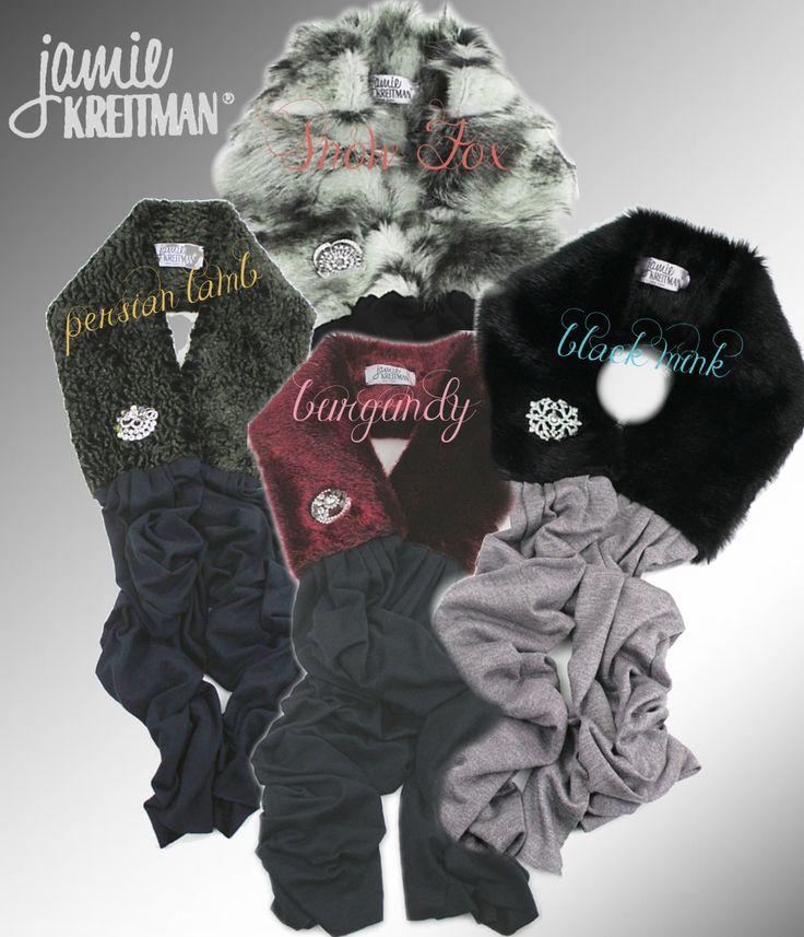 New Glam #Faux Fur scarves for Holiday 13! Get'em at www.jamiekreitman.com