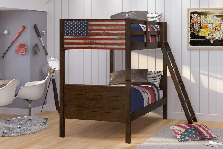 Patriotic Wooden Bunk Beds