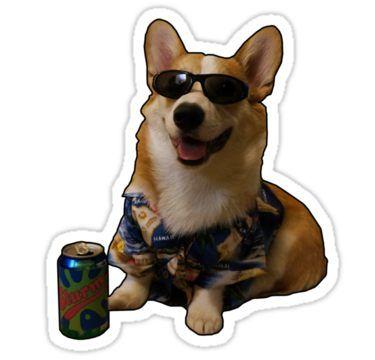 'Slurms Mckenzie Dog' Sticker by darthfader | Dog stickers ...
