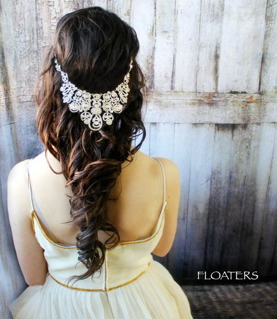 Bridal Headpiece Wedding Headpiece Bridal Hair by HairFloaters