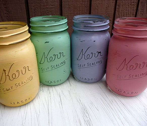 Colorful maison jars
