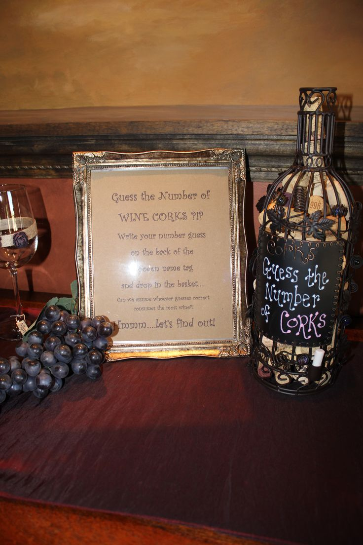 Guess the number of wine corks game | Wine Themed Bridal ...