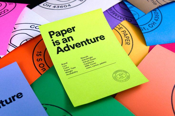 """Auf @Behance habe ich dieses Projekt gefunden: """"Commerce Paper Co. Branding""""…"""