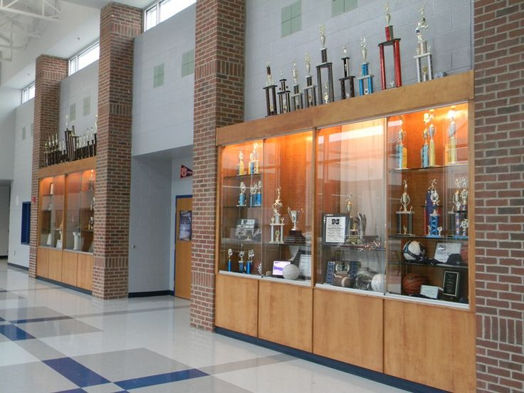 High School Trophy Case