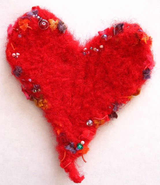 Simple Wool Felt Heart