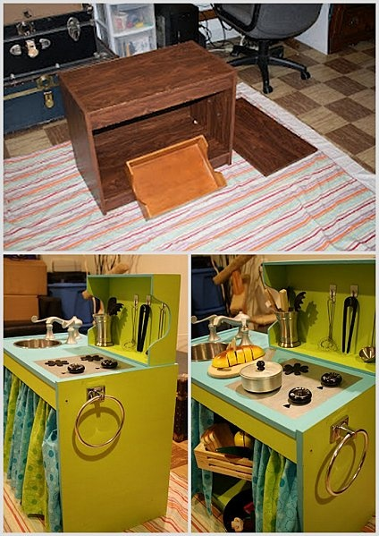 cuisiniere enfant inspiration diy cuisine kasia pinterest recycled materials cuisine and. Black Bedroom Furniture Sets. Home Design Ideas