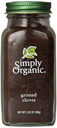Simply Organic Cloves Ground Certified Organic, 2.82-Ounce Container Simply Organic http://www.amazon.com/dp/B00269T9JQ/ref=cm_sw_r_pi_dp_nXF1vb18K82XY