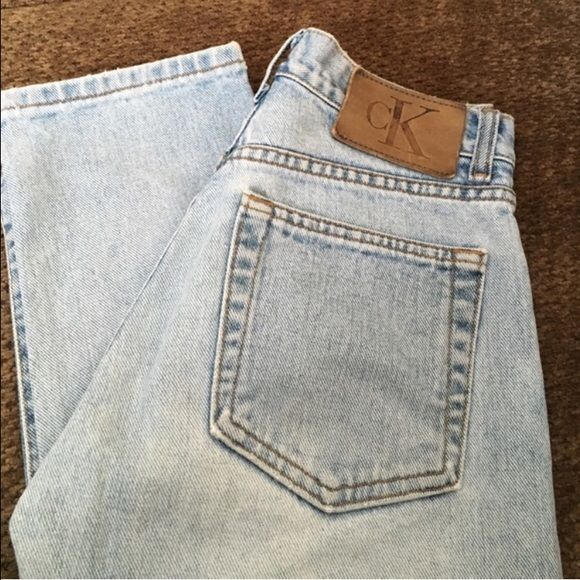 Vintage Calvin Klein High Waist Jeans Light denim wash vintage jeans. Calvin Klein Jeans Straight Leg
