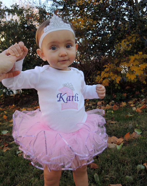 Personalized Baby Girl's First Birthday Tiara by Tabitha942, $13.99