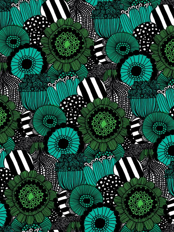 Green flowers for days as far as the eye can see | Banana Republic x Marimekko