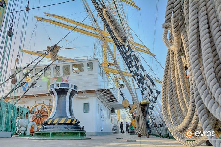 """Το Ρωσικό ιστιοφόρο """"Kruzensthern"""" στο λιμάνι της Αλεξ/πόλης"""