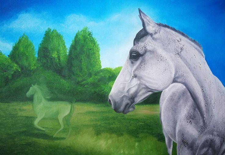 #horses #horse #painting #oil #olipainting #lo #lovak #festmény