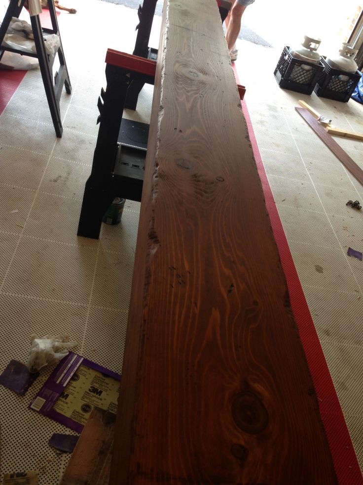Distressed and stained beam