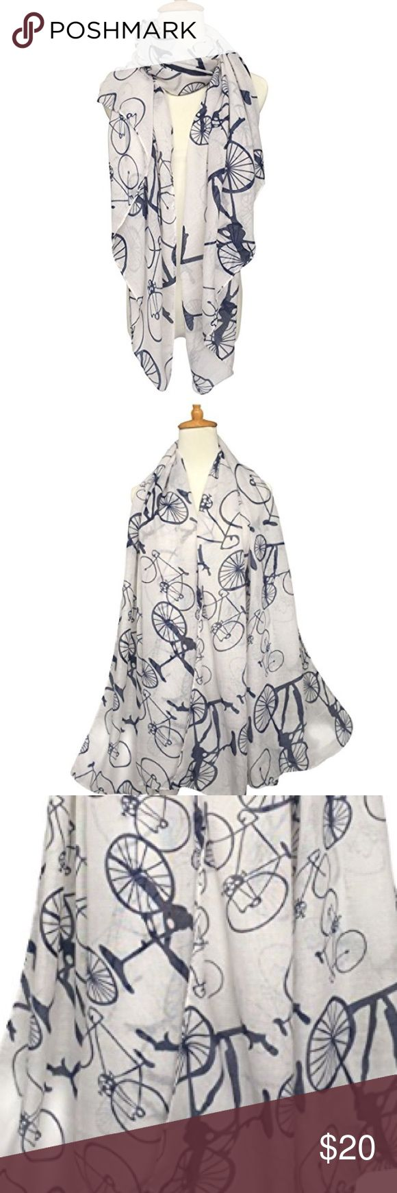 NWOT Bicycle Print Scarf Brand new. Accessories Scarves & Wraps