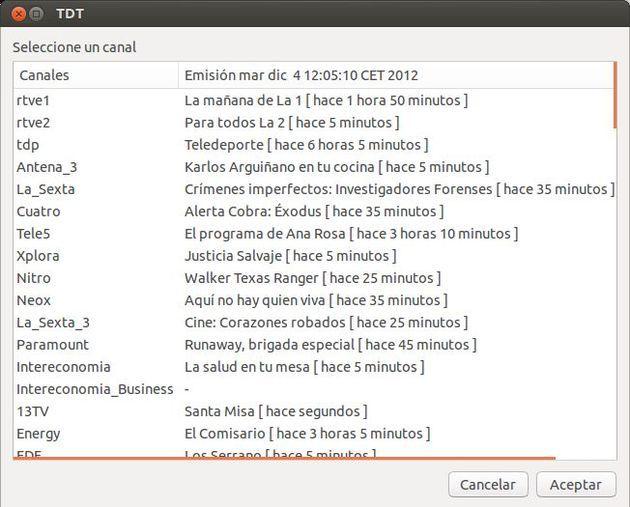 TVenLinux, script en bash para ver y grabar más de 80 canales de la TV española en GNU/Linux sin tarjeta sintonizadora