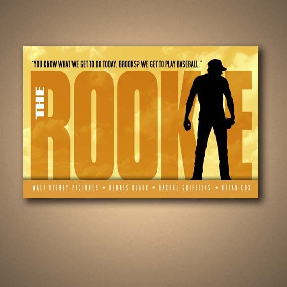 THE ROOKIE Movie Quote Poster Art Print by ManCaveSportsSigns, $16.00