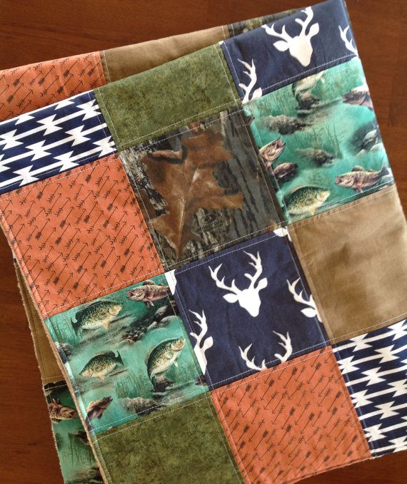 Woodland Baby Quilt-Arrow Baby Quilt-Deer Baby by bbsprouts