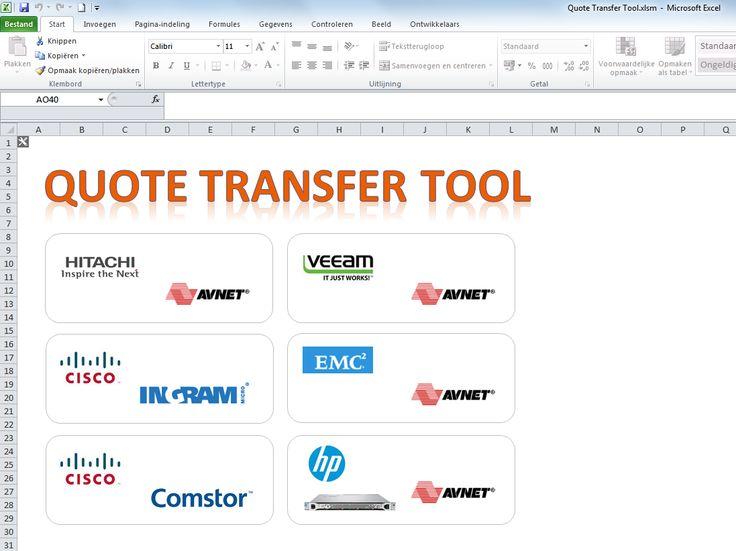 Sales automation - Quote transfer tool (QTT) - importeert en vertaald offertes van distri's / vendors zodat deze ingelezen kunnen worden in de calcsheet tbv clean offerte / order traject - QTT controleert tevens inkoopofferte op basis van volledigheid (juiste licenties, onderhoud, aantallen, SLA  etc.)