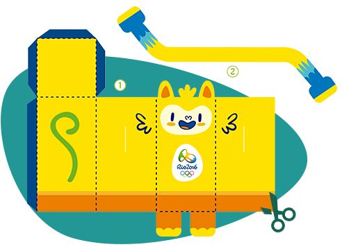 Rio Olympics 2016 Mascots Paper Toy. Download this printable and make your own Rio Mascot. Your kids will love doing this DIY craft to get into the Olympic spirit.