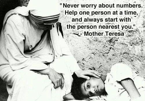 Mother Teresa's Anyway Poem People are often unreasonable, illogical and self centered; Forgive them anyway. If you are kind, people may accuse you of ...
