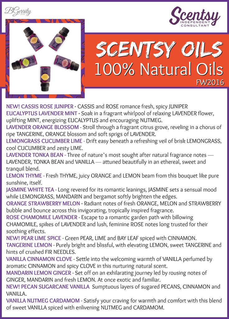 SCENTSY - Fall/Winter 2016 Scentsy Oils - 100% Natural Oils (part 1 of 2) Flyer By: Brittany Gerrity Admin Of: No-Nonsense Canadian Flyers Sharing Group on Facebook www.brittanygerrity.scentsy.ca