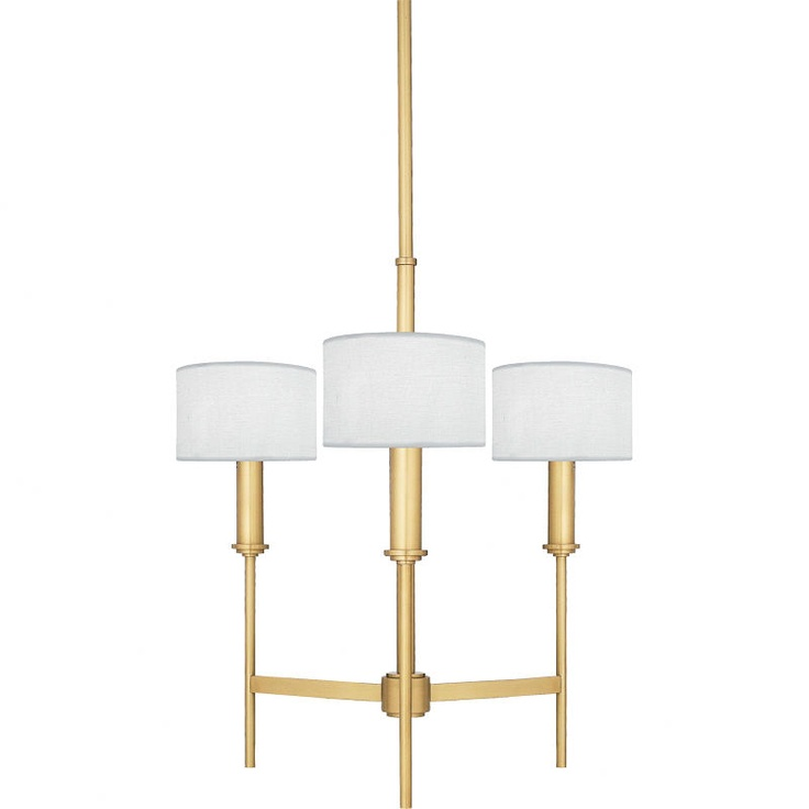 Quoizel Lighting NR Ferrara Collection Three Light Chandelier In Natural Brass Finish