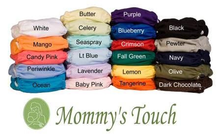 Canadian Online Baby & Natural Parenting Store in Canada | Cloth Diapers in Canada| Baby Luv Boutiq: One Size All-In-One Touchtape - Solids