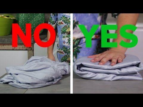 Így hajtogathatod össze gyűrődésmentesen a gumis lepedőt pillanatok alatt (videó) - www.kiskegyed.hu