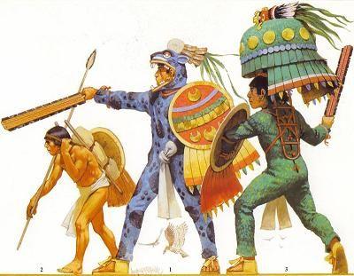 Aztecas ''Los hombres se vestían con maxtle (taparrabo) por una tira de algodón que pasaban por las ingles y se ataban a la cintura. En los pies calzaban las catli, sólo poseen talonera y se ataba a la pantorrilla a través de unas tiras.  Tanto la vestimenta de mujeres como de hombres se confeccionaban en base a fibra de manguey o ixtle. Este se obtenía raspando las hojas o ramas de los árboles .Estas fueron remplazadas por el algodón.  El trabajo de las plumas fue desarrollado con…
