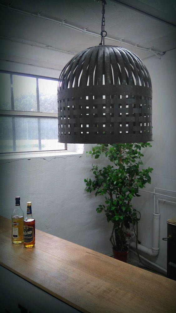 Details Zu Industrie Design Deckenlampe Hängelampe Ø45 Cm Theke Lounge Loft  Fabrik Edison