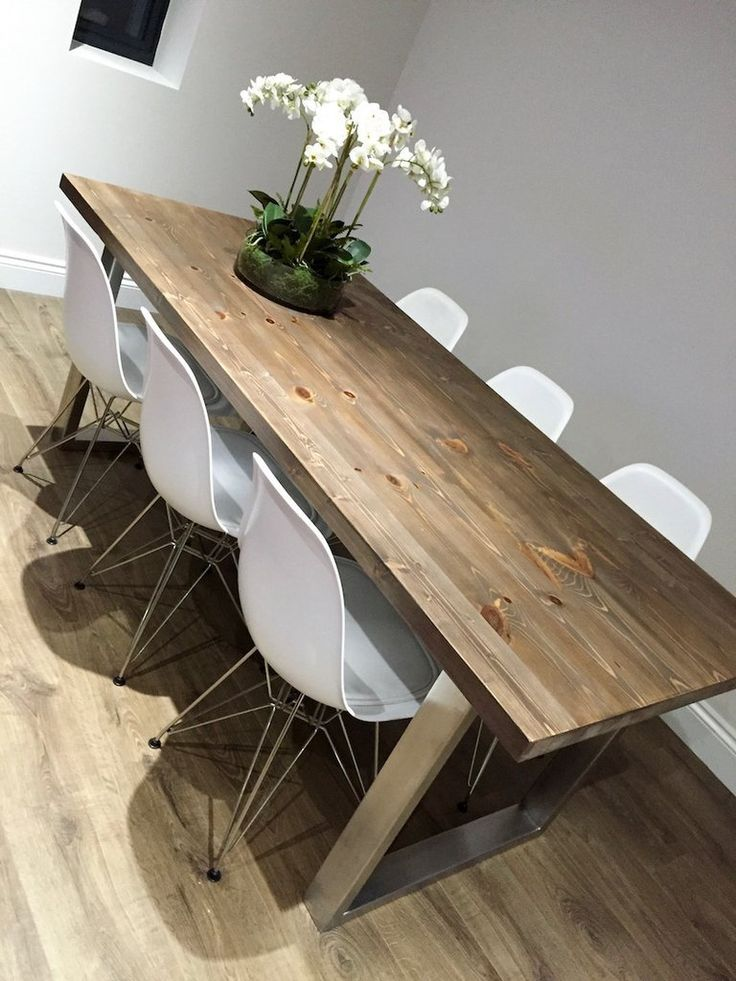 U Shaped Stainless Steel Legs Dining Table