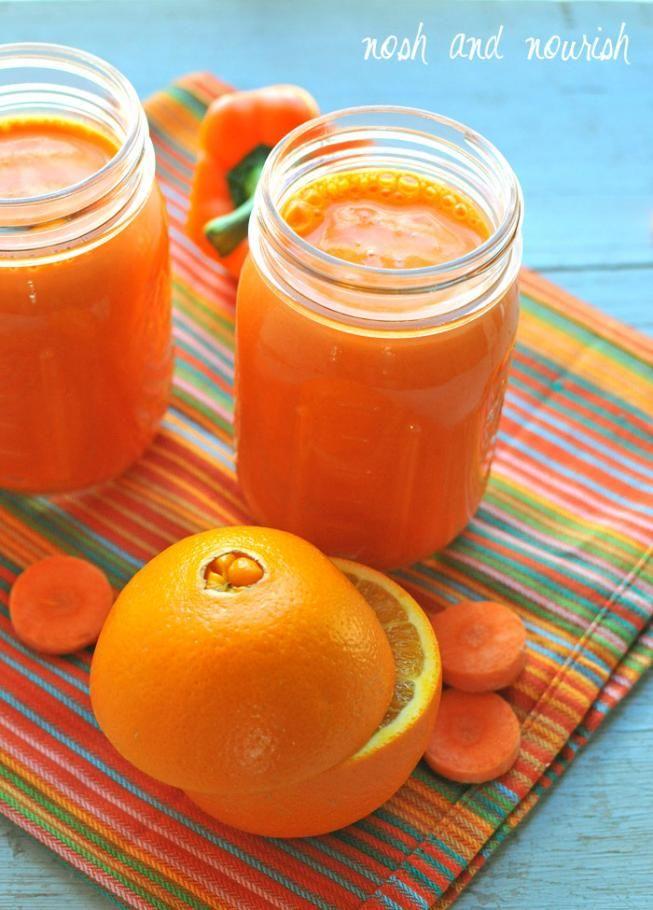 Oranger Smoothie (Orangen,  Karotten)