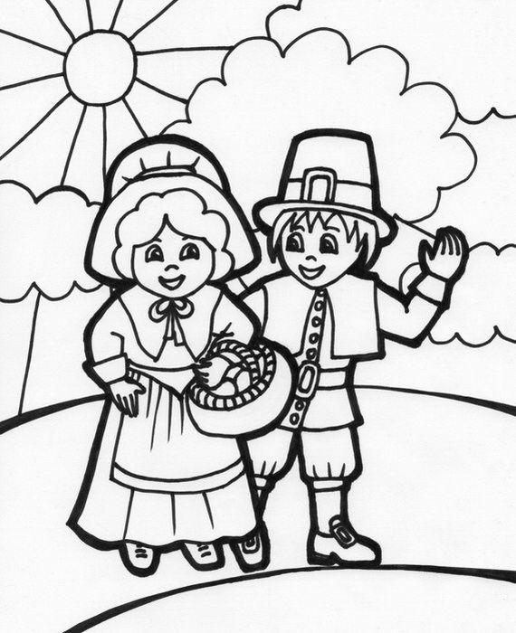 african american thanksgiving coloring pages - photo#50