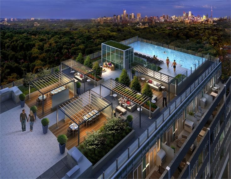 56 best toronto condo amenities images on pinterest for Rooftop pool design